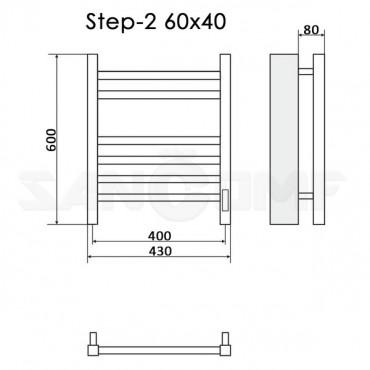 Полотенцесушитель электрический Ника Step-2 60x40 белый RAL9016