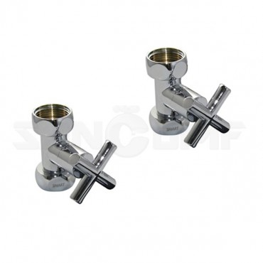 Вентиль прямой Smart 8730SCH0510  г-г 3/4 x 1 крест (2 шт)
