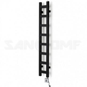 Полотенцесушитель электрический Terma Easy 1280x200 Metallic Black - тэн приобретается дополнительно