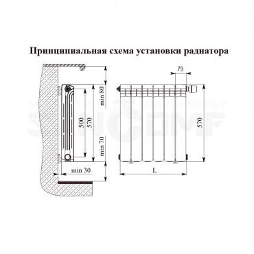 Радиатор биметаллический Rifar FORZA 500