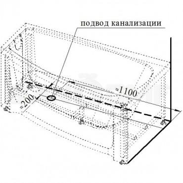 Радомир Мэги (Megi) 1400Х800 акриловая ванна