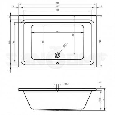Riho Castello 180 Акриловая ванна