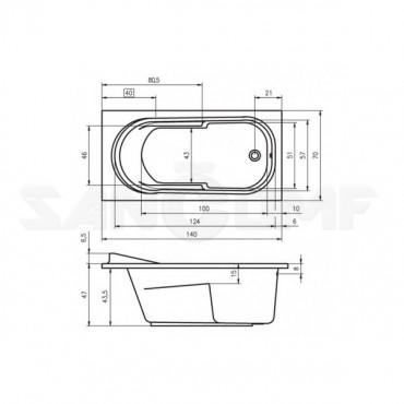 Riho Columbia 140 акриловая ванна
