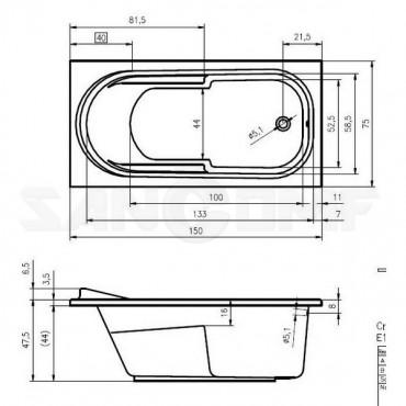 Riho Columbia 150 акриловая ванна