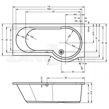 Riho Dorado R/L акриловая ванна