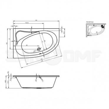 Riho Lyra 170 R/L акриловая ванна