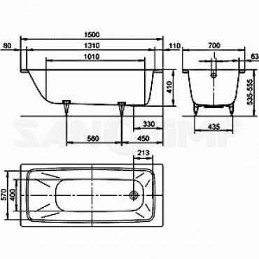 Kaldewei Cayono 150x70 cтальная ванна с покрытием Easy-Clean