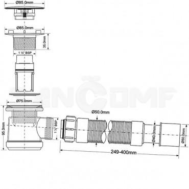 Сифон для поддона McAlpine MRS3C-SF