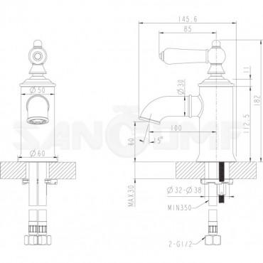 Смеситель Bravat Art F175109C для раковины