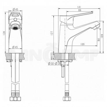 Смеситель Bravat Eco-D F193158C для раковины