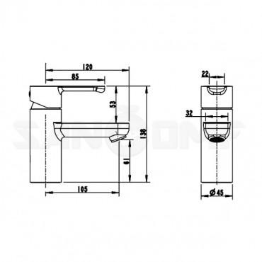 Смеситель Bravat Stream F13783C-2 для раковины