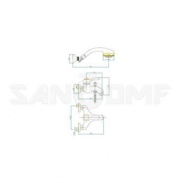 Смеситель Fiore Jafar 47ZZ5100 для ванны с душем