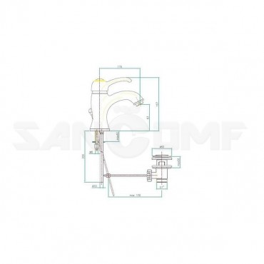 Смеситель Fiore Jafar 47ZZ5221 для раковины
