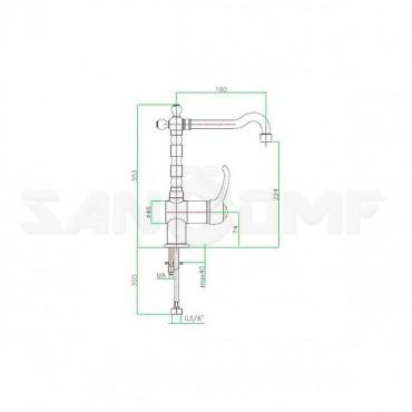 Смеситель Fiore Jafar 47CR5414 для кухонной мойки