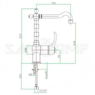 Смеситель Fiore Jafar 47ZZ5414 для кухонной мойки