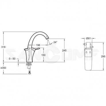 Смеситель для кухонной мойки Jacob Delafon Carafe E18865-CP