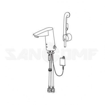 Oras Cubista 2816F смеситель для раковины бесконтактный с гигиеническим душем