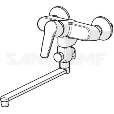 Oras Saga 3942Y смеситель для ванны и душа с поворотным изливом