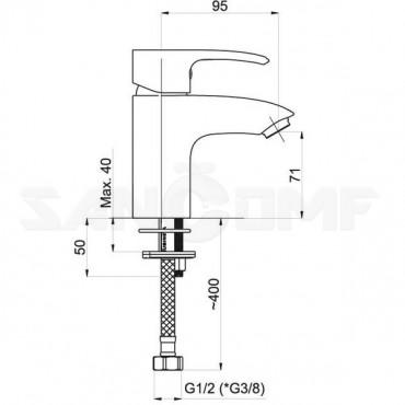 Смеситель Rubineta Artis-18 540039 для раковины