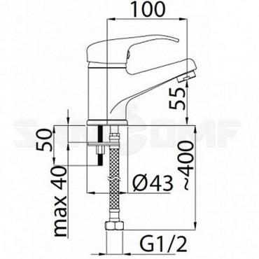 Смеситель Rubineta Optima-18 O80008 для раковины
