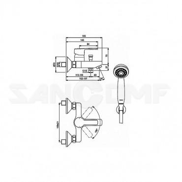 Vidima Уно BA238AA смеситель для ванны и душа