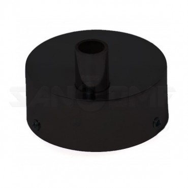 Коробка для скрытой электропроводки полотенцесушителей черная