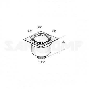 Душевой трап Migliore Bangkok ML.RIC-10.104 Br бронза