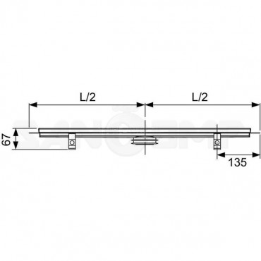 Дренажный канал TECEdrainline прямой с гидроизоляцией Seal System 700 мм