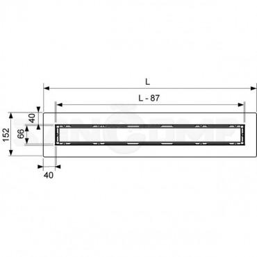 Дренажный канал TECE Drainline с площадкой для укладки натурального камня