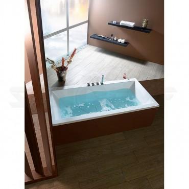 Акриловая ванна Alpen Marlene 180x80 с крышкой слива