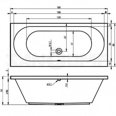 Riho Carolina 180 акриловая ванна