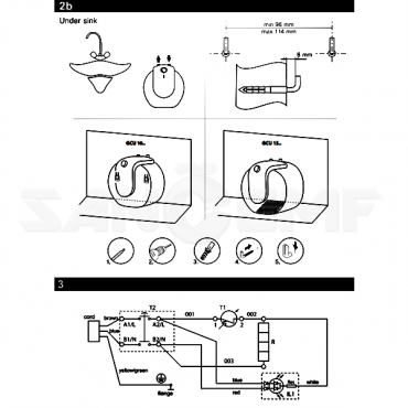 Водонагреватель Tesy BiLight Compact GCA 1015 L52 RC 10 л, монтаж над мойкой