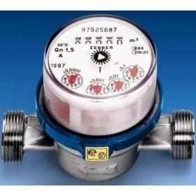 Счетчик для воды с ИМПУЛЬСНЫМ выходом 1/2 горяч.ZENNER (номин. расход 1,5м 3/ч)